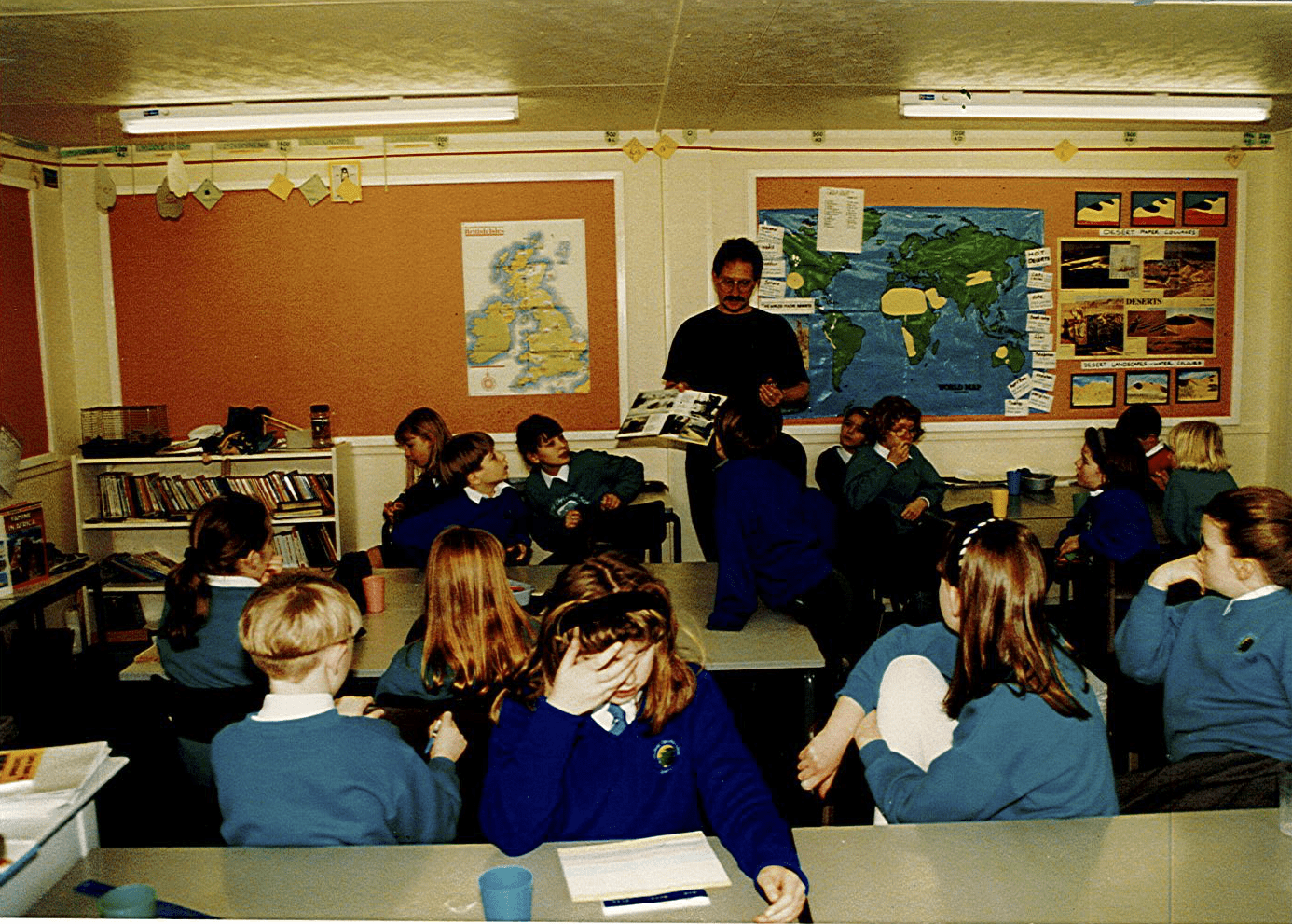 One of the very first classes taught at BCS.