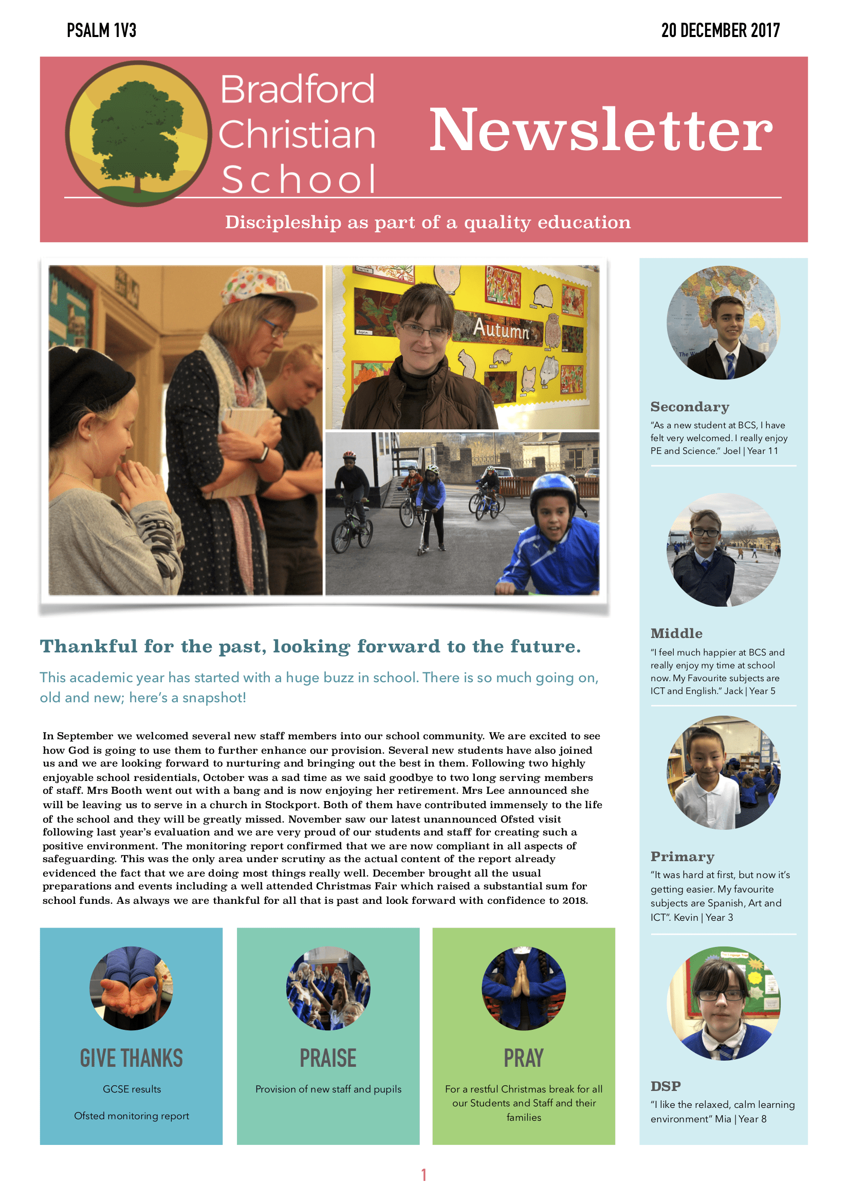 Term 1 newsletter PAGE 1 final