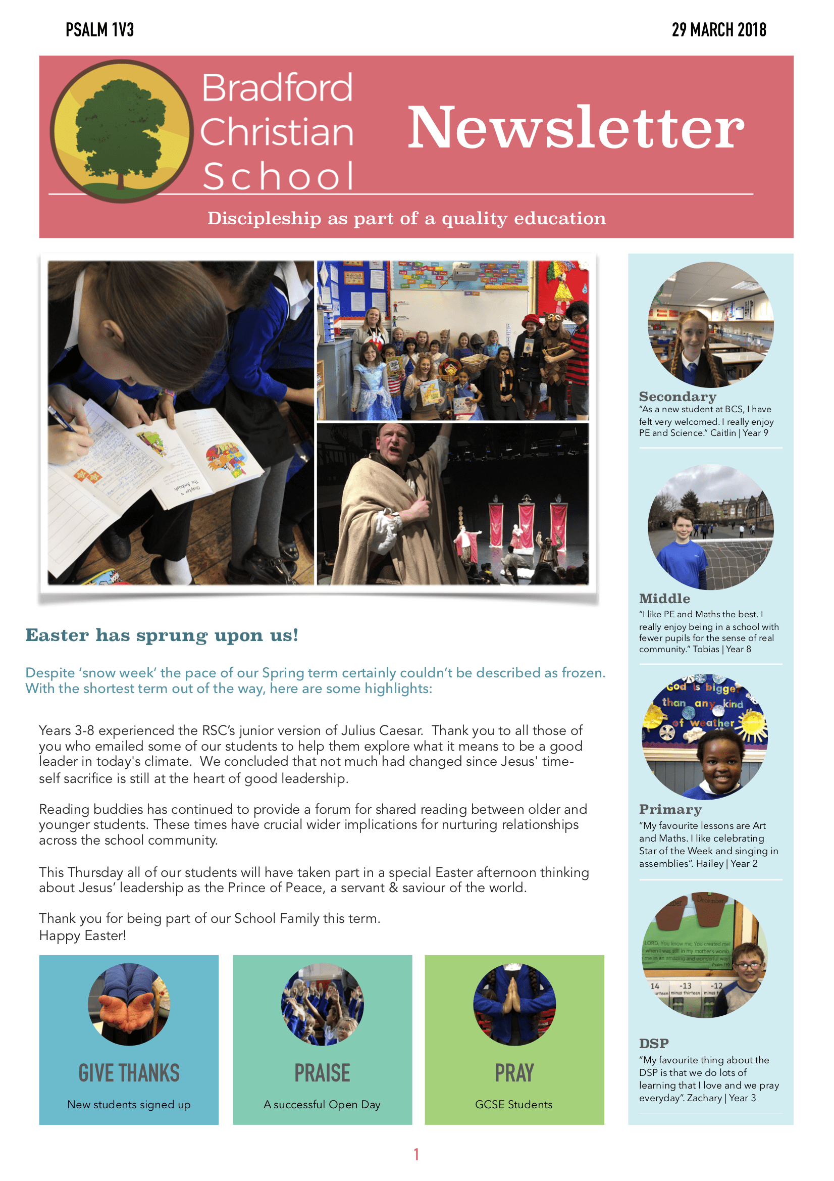 Term 2 newsletter PAGE 1
